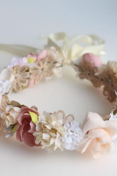 2Pcs Vintage Hair Accessories Wedding Bridal Headbands for Toddler Girls Mother and Daughter Pink Wedding Flower Rose Tiaras