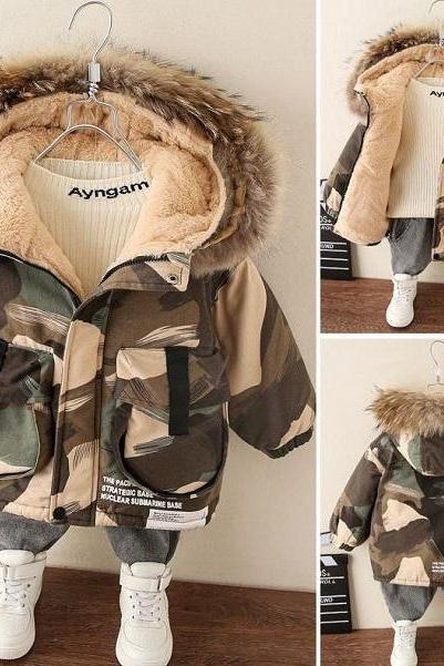 Rsslyn Little Dude's Camouflage Winter Coats for 12 Months Boys