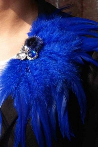 Rsslyn Royal Blue Pins and Brooches Women's Accessory