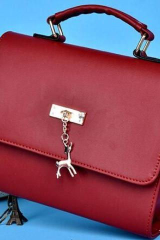 Red Leather Bags PU Leather Shoulder Bag
