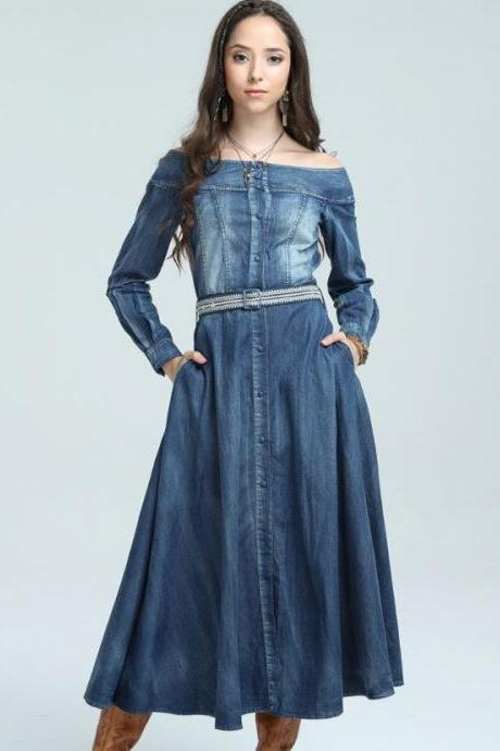 17b257623ff Cowgirl Denim Dress