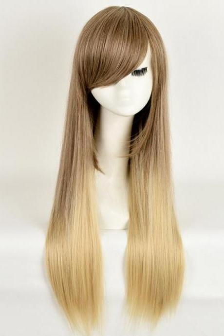 Blonde Hair Wigs Synthetic