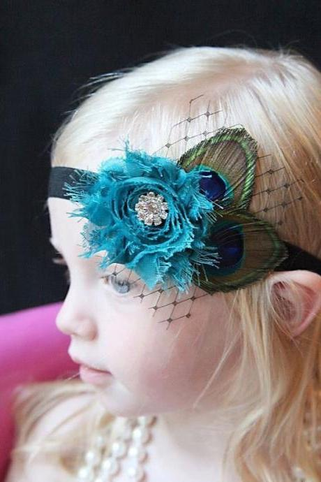 Rsslyn Peacock Headpiece New Headbands for Newborn Toddler Teen Girls