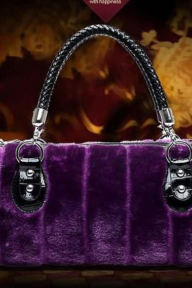 Purple Tote Purse for Women Lavander Handbags for Women