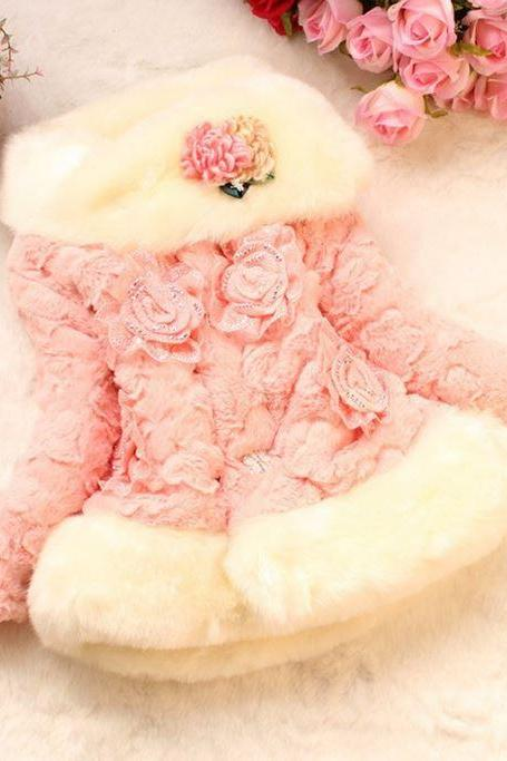 Pink Girls Coats Pink Winter Coats for 18mos,2T,3T,4T,5T