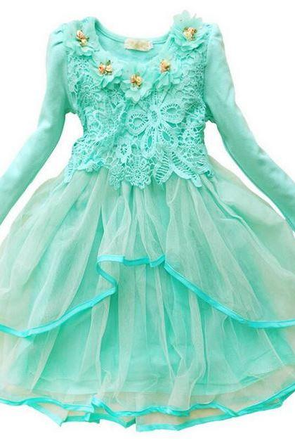 Pretty Green Tutu Dress with FREE Headband Ready to Ship Mint Green Tutu Dress Pastel Green Cutest Girls Dress