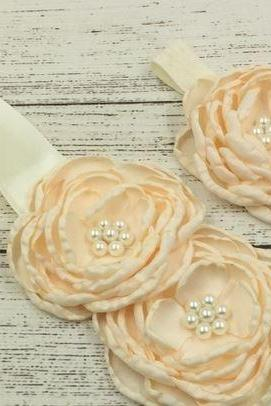 5 Sets Flower Sashes and Matching Headbands for Flower Girls Wedding Accessories