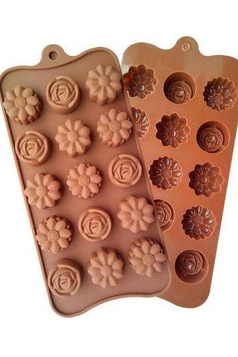 3 PCS Silicone Floral Molds Jelly Chocolate Jelly Cake Decorating DIY Kitchenware