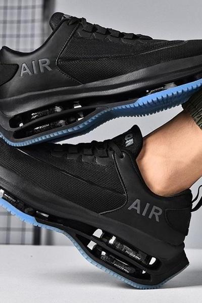 Rsslyn Triple Layer Blue-Black Shoes for Men Black Sneakers Air Mesh Sports Shoes Outdoor Activities