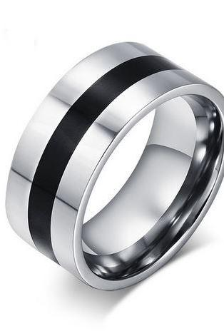 Men's Titanium Steel Finger Rings Men's Party Jewelry Wedding Engagement Rings
