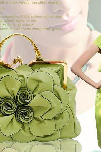 Light Green Floral Purse Green Shoulder Bag Formal Handbags for Women