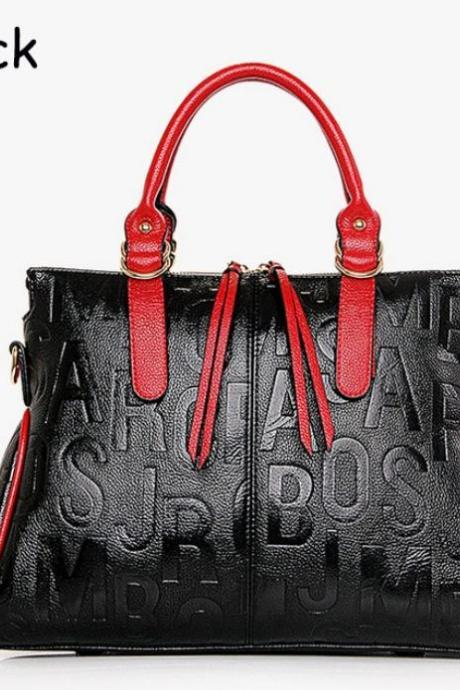 Womens Monogram Bags Embossed Letters Black Purse Black tote Bags Fashion Style
