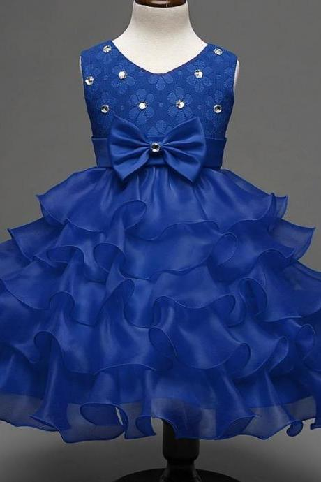 Royal Blue Tutu Dress for Toddler Girls Blue Dress for Flower Girls Wedding Birthday Girls Ball Gown Outfit