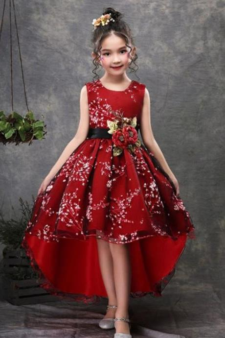 Rsslyn Ready to Ship Today 6-7 Years Old Christmas Dress for Toddler Girls With Free Golden Tiara