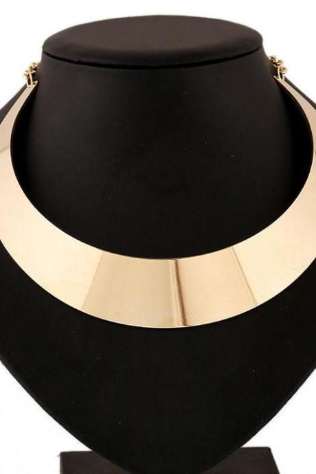 Mujer Chunky Choker Gold Necklace Bijoux Fashion Golden Necklace for Women