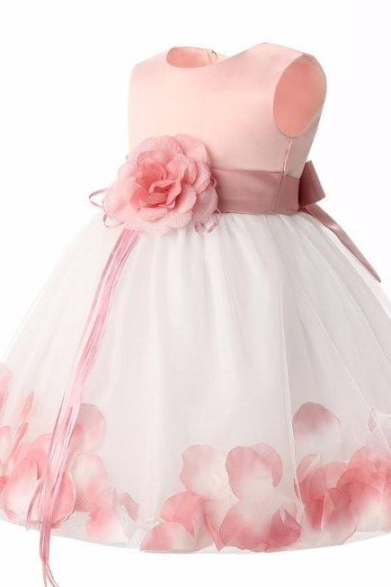Baby Dress with FREE Headband Baby Dresses Pink Dress for Newborn Girls