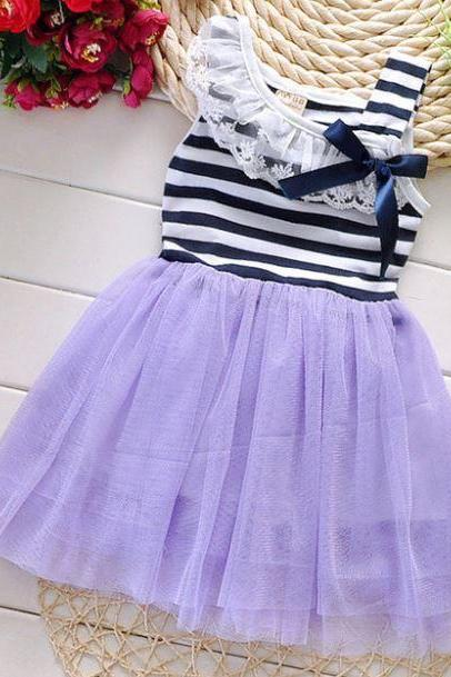 Purple Dress for 6 Months Dress Newborn Summer Dress Cotton Dress Casual Dresses