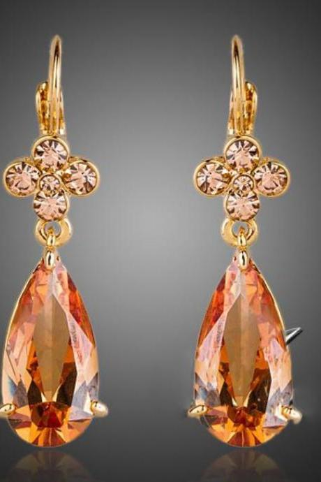 charming citrine orange bridesmaids earrings for women orange clip on earrings
