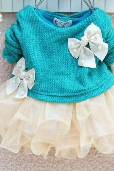 3 months aqua blue newborn dress blue dress with bows blue tutu baby ivory dress