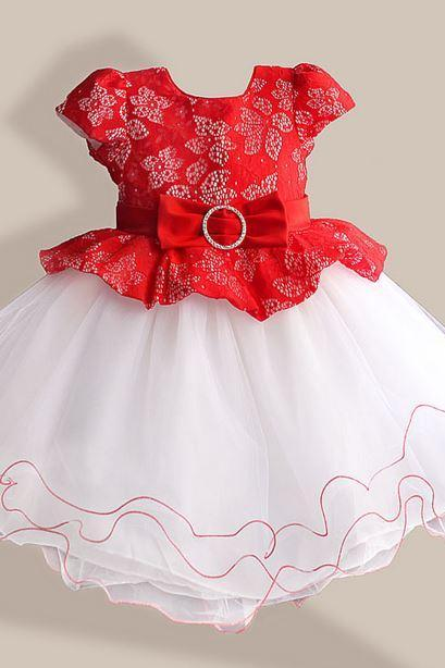 red dress for toddler girls formal hollow embroidery laced red formal red dress