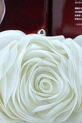 Wedding Purse White Clutch Bridal Shower Gift Clutches Wedding Evening Purse