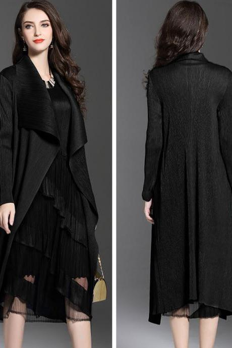 Black Long Blazer for Women Black Overcoat Black Jackets