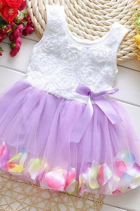 Purple Dress for Infant Girls Purple Rosette Dress for Girls Purple Baby Tutu Dresses