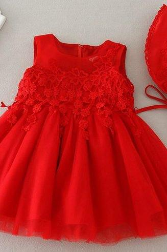 12 Months Christmas Dinner Outfit Red Tutu Dress for Little Girls