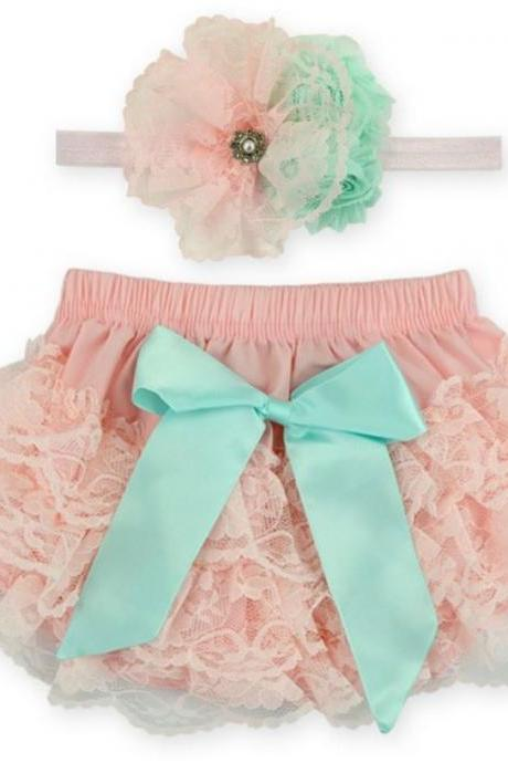 Pink Baby Props Pink Baby Diaper Ruffled Outfit for Newborn Girls