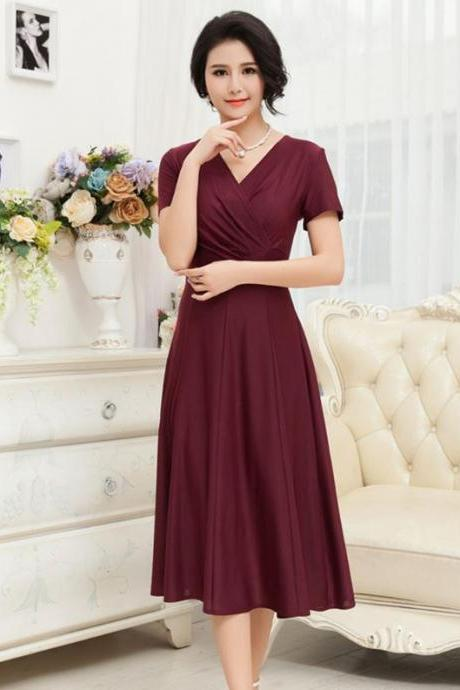 Burgundy Red Dress Maxi Red Dresses Formal Wear Burgundy Knee Length Dress