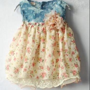 Newborn Dress Newborn Props Dress Denim Dress for Newborn Girls 0-3 Months,3-6 Months,7-9 Months,9-12 Months