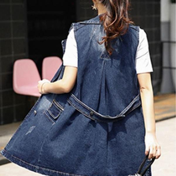 Vest for Women Denim Vest Denim Vests High Quality Denim Summer Fall, Spring and Winter