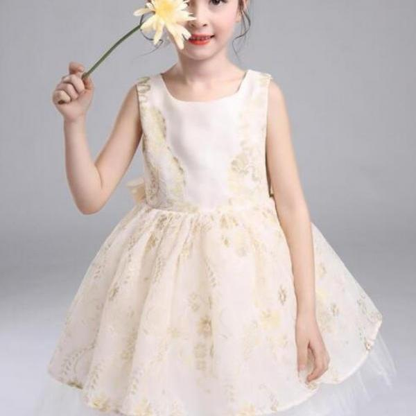 Ivory Dress Baby Dress Infant Dress Toddler Dress for 18-24 Months Flower Girls Dress