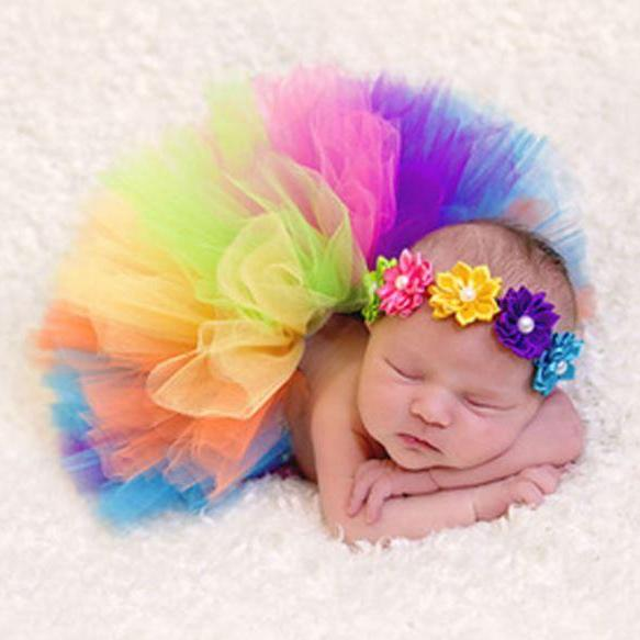 Rainbow Tutu for Preemie Baby Newborn Girls Baby Props Ready for Shipping Newborn Props