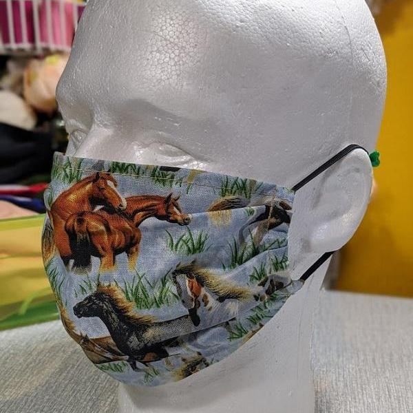 3pcs Large Size Facemasks for Men 1pc Printed Horses Cowboy Masks 2ps Solid Handmade by Lyn from RudelynsSariSariStore.com