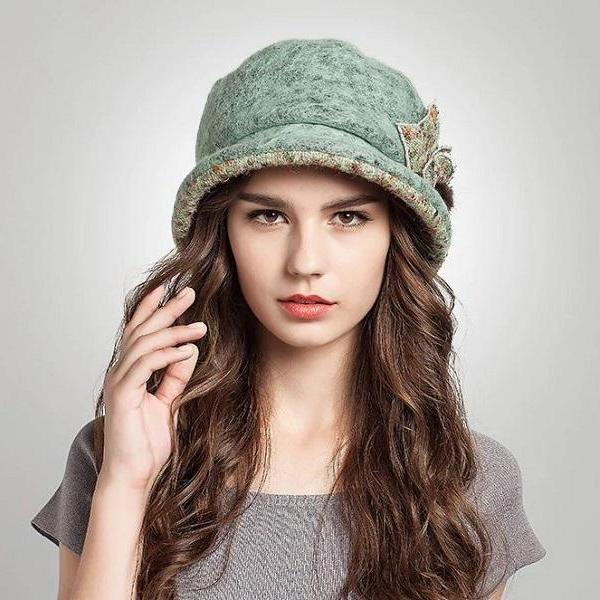 Rsslyn High-Quality Newsboy Hats for Women Trendy Fedora Green Bucket Hats for Women