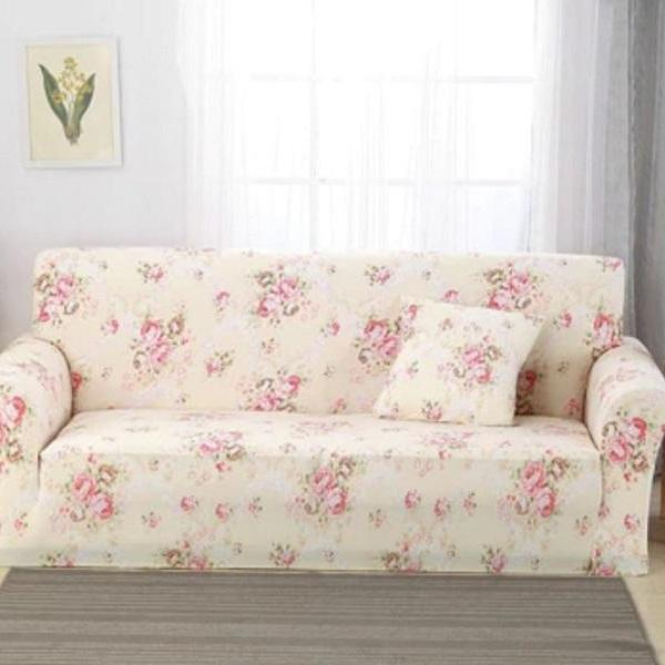 Rsslyn Peony Prints Creamy Couch Cover-Slip Covers-Save Money Do Not Throw Your Old Sofa-Home Improvement