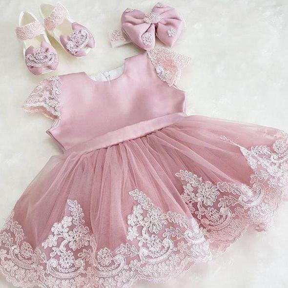 Gorgeous Flower Girl Dress Wedding Dress Sleeveless Pageant Dress for Girls Luxury Gowns for Baby Girls