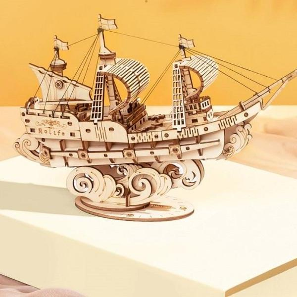 Rsslyn Vintage Sailing Ship 3D Wooden Puzzle Game Boat Assembly   RSS21-322021 Toys,Personal Collection