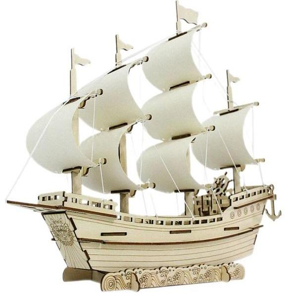 Rsslyn Family Time Vintage Sailing Ship 3D DIY Wooden Puzzle Game Boat Assembly RSS3-3032021 Toys for Boys