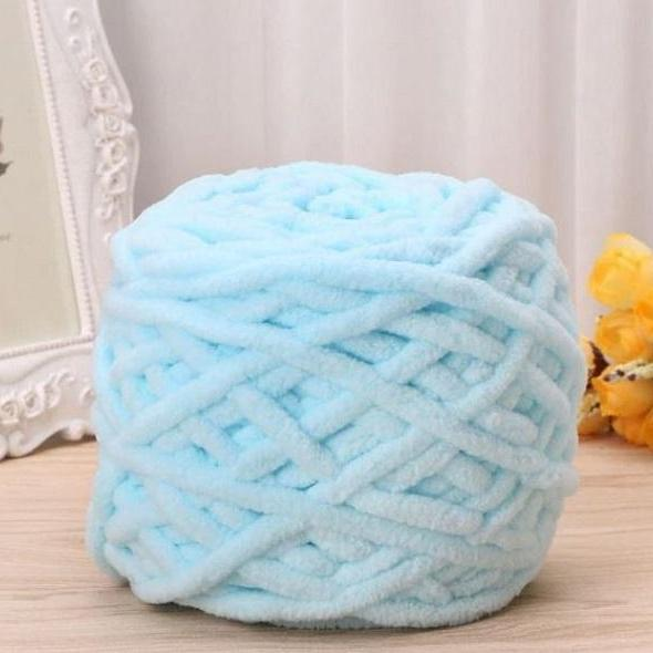 Rsslyn 2pcs 100g Soft Blue Cotton Worsted Yarns RSS05-352021 Knitting and Crocheting Yarns for Sale