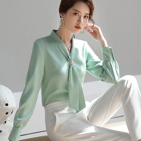 Rsslyn Newest Women's Silk Blouses RSS14-362021 Tops for Luxury Women Fashion Lady Boss