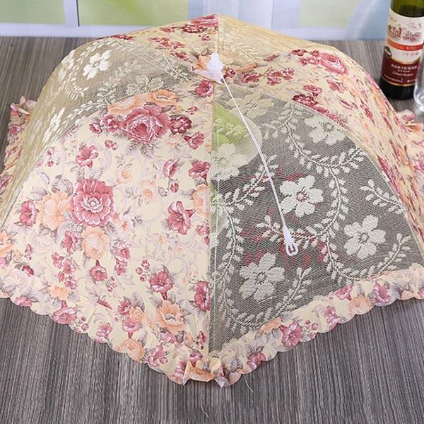 Rsslyn Umbrellas for Picnic Ground RSS14-362021 Avoid Flies Food Cover Party Umbrella Mini Picnic Parasol