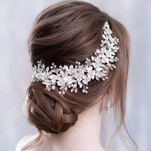 Rsslyn Silver Bridal Hair Accessories RSS5-382021 Luxury Crystal Headpieces