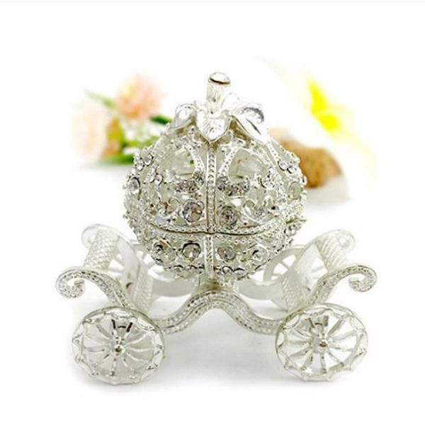 Rsslyn Trinket Boxes for a Royal Princess Jewelry Boxes RSS14-382021 Hollow Silver Plated Pumpkins
