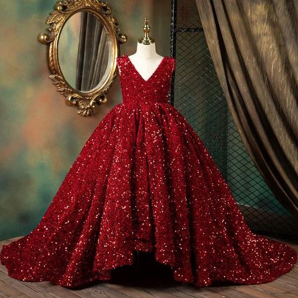 Rsslyn Red Ballgown Dresses for Toddler Girls Luxury Quinceanera Dresses
