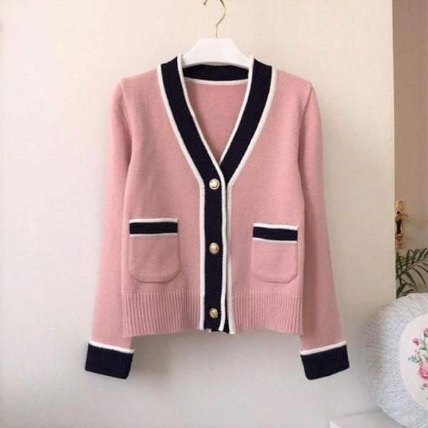 Rsslyn Pink Long Sleeve Cardigan for Women