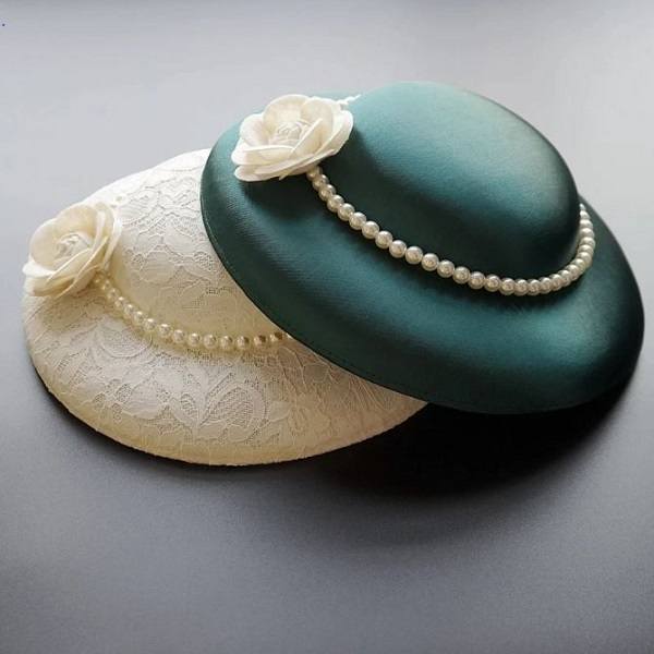 Rsslyn Lacy Ivory Hats Queen of England Hat Collection