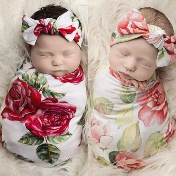 Rsslyn 4pcs/SETCute Newborn Props Matching Set for Twins