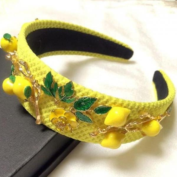 Hot Selling Yellow Headband for Women Princess K Headband Style